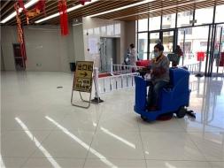 无锡金桥农贸市场再次选择优尼斯驾驶式洗地机