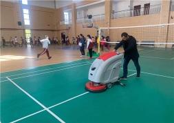 南京洗地机论述,学校全自动洗地机应用在学校食堂地面清洁