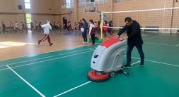 如皋洗地机是学校地面保洁的好手