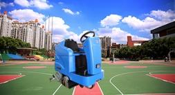 海安洗地机在学校地面清洁的应用