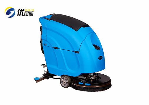 优尼斯自动洗地机L520B-OIL|手推式单刷洗地机|油污地面洗地清洗机