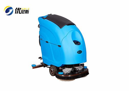 优尼斯全自动洗地机L600BT 双刷手推式洗地机