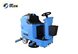 优尼斯W700小型驾驶式洗地机|物业保洁电动拖地机|驾驶式洗地车
